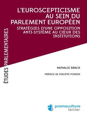 cover image of L'eurosceptiscisme au sein du parlement européen