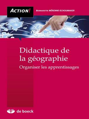 cover image of Didactique de la géographie