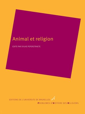 cover image of Animal et religion