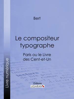 cover image of Le compositeur typographe