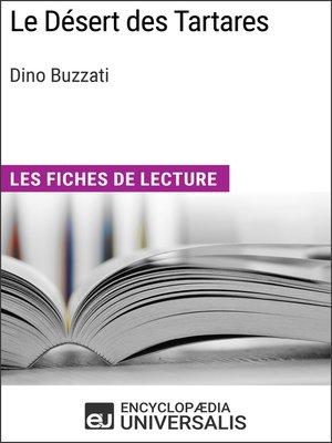 cover image of Le Désert des Tartares de Dino Buzzati