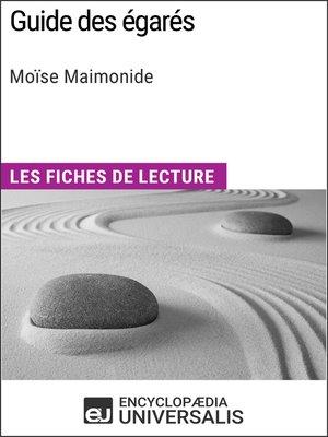 cover image of Guide des égarés de Moïse Maimonide
