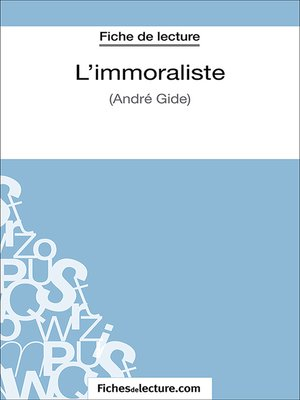 cover image of L'immoraliste