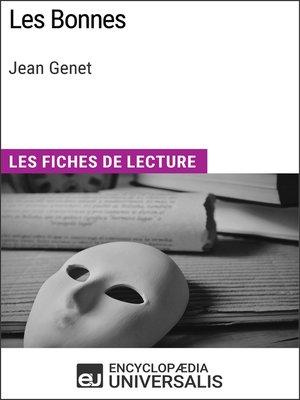 cover image of Les Bonnes de Jean Genet