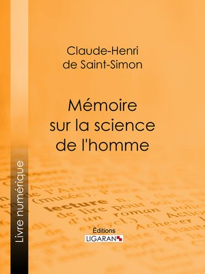 cover image of Mémoire sur la science de l'homme