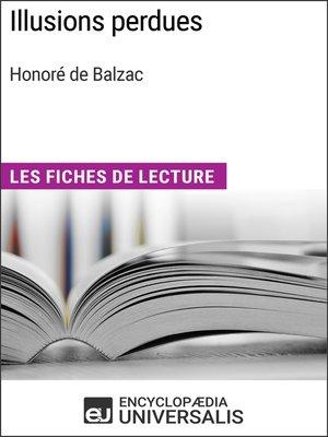 cover image of Illusions perdues d'Honoré de Balzac