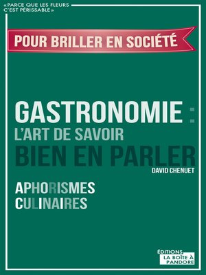 cover image of Gastronomie