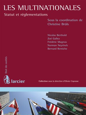 cover image of Les multinationales