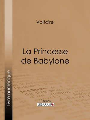 cover image of La Princesse de Babylone