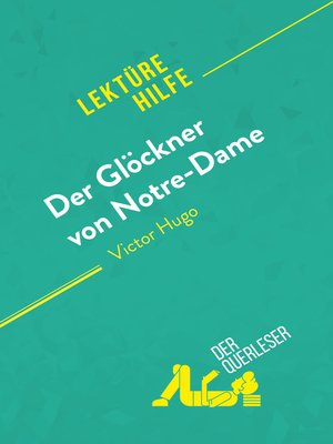 cover image of Der Glöckner von Notre-Dame von Victor Hugo (Lektürehilfe)