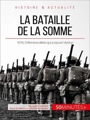 cover image of La bataille de la Somme
