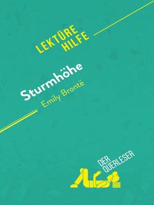 cover image of Sturmhöhe von Emily Brontë (Lektürehilfe)