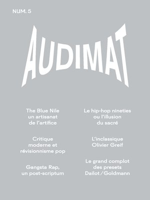 cover image of Audimat--Revue n°5