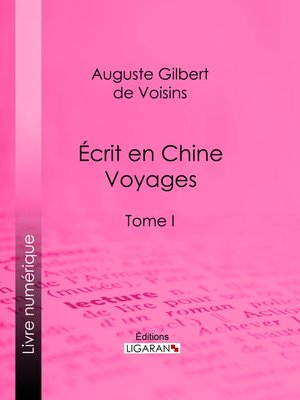 cover image of Écrit en Chine