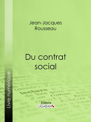 cover image of Du contrat social