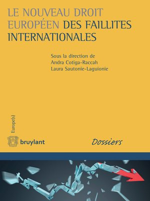 cover image of Le nouveau droit européen des faillites internationales