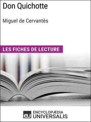 cover image of Don Quichotte de Miguel de Cervantès