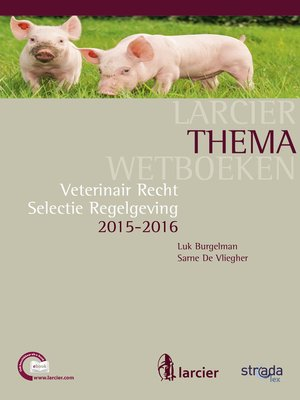 cover image of Veterinair recht 2015