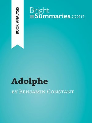 cover image of Adolphe by Benjamin Constant (Book Analysis)