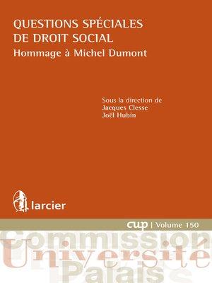 cover image of Questions spéciales de droit social
