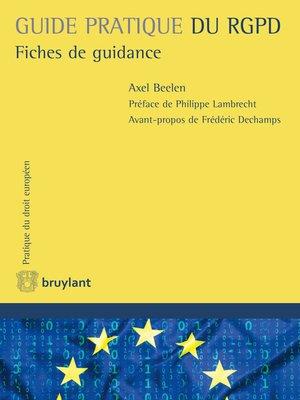 cover image of Guide pratique du RGPD