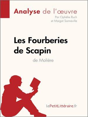 cover image of Les Fourberies de Scapin de Molière (Analyse de l'oeuvre)