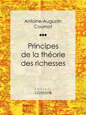 cover image of Principes de la théorie des richesses