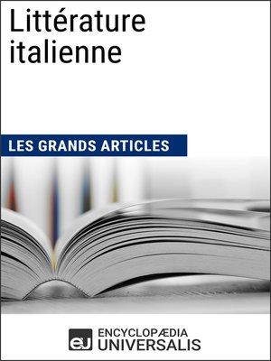 cover image of Littérature italienne