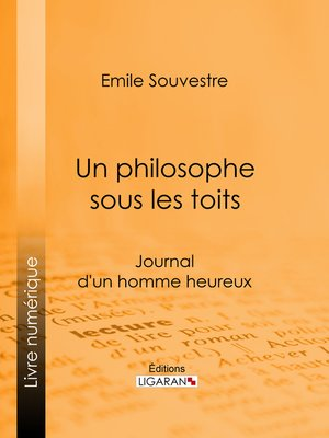 cover image of Un philosophe sous les toits