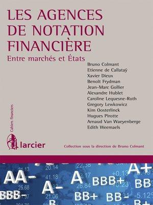 cover image of Les agences de notation financière