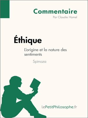 cover image of Éthique de Spinoza--L'origine et la nature des sentiments (Commentaire)