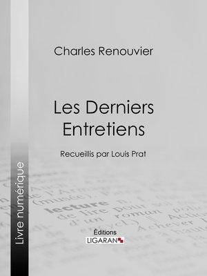 cover image of Les Derniers Entretiens