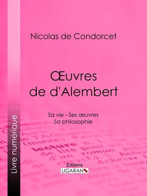 cover image of Œuvres de d'Alembert