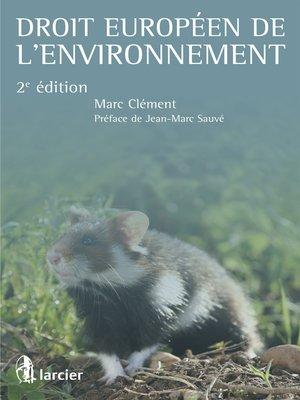 cover image of Droit européen de l'environnement