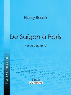 cover image of De Saïgon à Paris