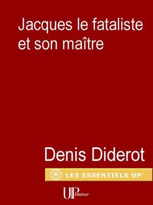 cover image of Jacques le Fataliste et son maitre