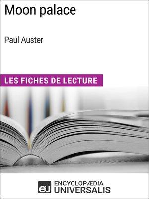 cover image of Moon palace de Paul Auster
