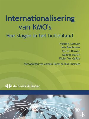 cover image of Internationalisatie van KMO's