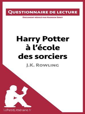 cover image of Harry Potter à l'école des sorciers de J. K. Rowling
