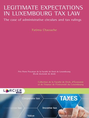 cover image of Legitimate expectations in Luxembourg tax law