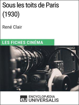 cover image of Sous les toits de Paris de René Clair