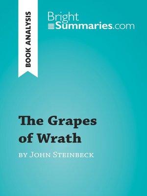 an analysis of john steinbecks novel the grapes of wrath