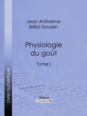 cover image of Physiologie du goût