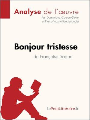 cover image of Bonjour tristesse de Françoise Sagan--Fiche de lecture