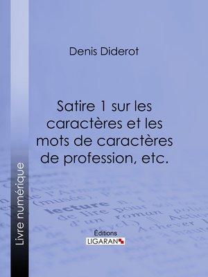 cover image of Satire 1 sur les caractères et les mots de caractères de profession, etc.