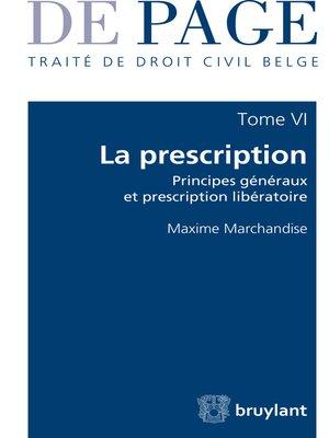 cover image of Traité de droit civil belge