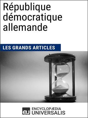 cover image of République démocratique allemande