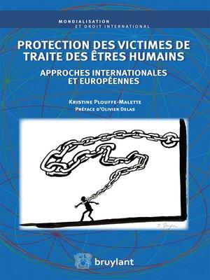 cover image of Protection des victimes de traite des êtres humains