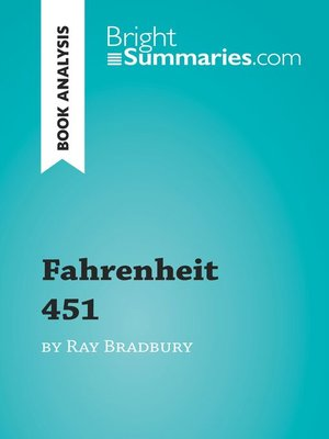 cover image of Fahrenheit 451 by Ray Bradbury (Book Analysis)