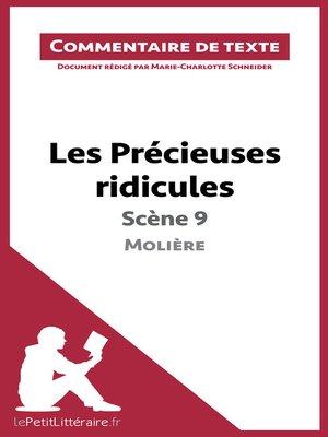 cover image of Les Précieuses ridicules de Molière--Scène 9